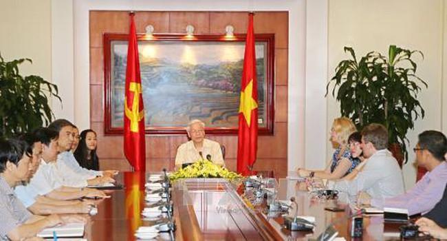 Tổng Bí thư Nguyễn Phú Trọng trả lời phỏng vấn báo chí Hoa Kỳ