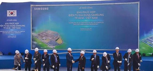 Samsung khởi công Khu phức hợp Điện tử gia dụng 1,4 tỉ USD tại TPHCM