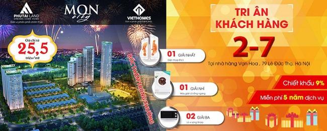 2/7 Phú Tài Land mở tri ân cho khách hàng mua Mon City