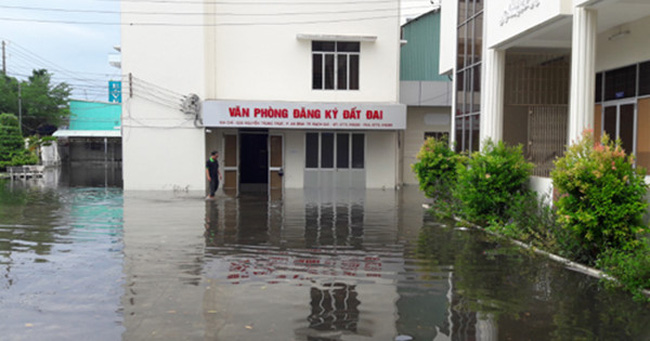Mưa lớn ở Kiên Giang, gần 4.000 hồ sơ đất đai bị ngập nước