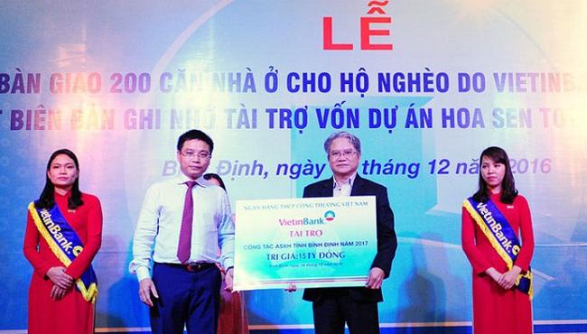 VietinBank mang mái ấm mùa Xuân về với Bình Định