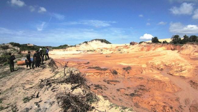 Vỡ hồ chứa nước khai thác titan: Bộ Tài nguyên nói gì