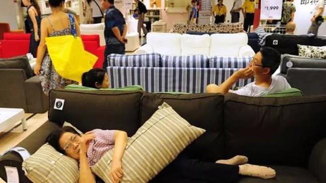Siêu thị Ikea Thuỵ Điển phát phiền với cách hành xử của khách hàng Trung Quốc vào ngủ khò