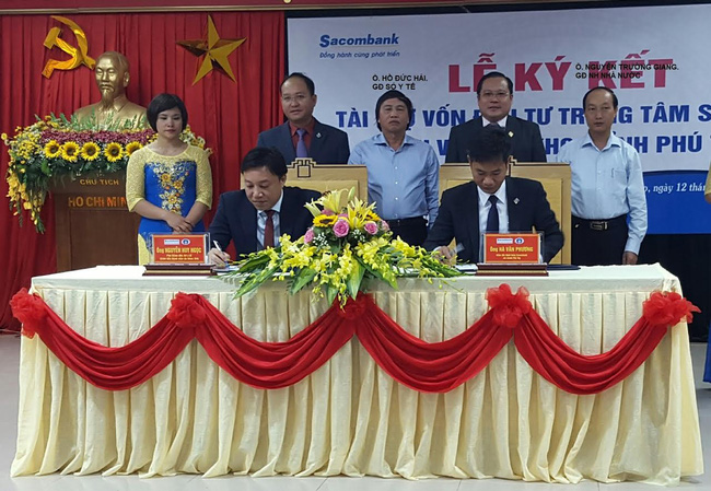 Sacombank hỗ trợ vốn 1.000 tỷ cho Sở Y tế tỉnh Phú Thọ