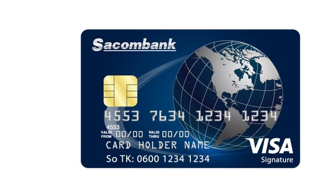 Sacombank Visa Signature: Thẻ tín dụng tích dặm đổi vé máy bay cực ưu đãi