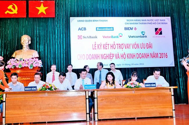Tp.HCM: 7 ngân hàng cho các DN Quận Bình Thạnh vay 817 tỷ đồng