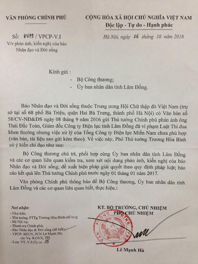 """Giám đốc Công ty Điện lực Lâm Đồng bị """"tố"""" khai man thành tích"""