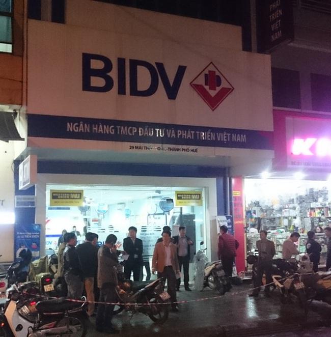 BIDV lên tiếng về vụ cướp ngân hàng xảy ra tại chi nhánh Thừa Thiên Huế