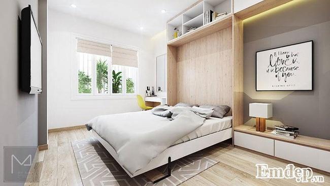 Phòng ngủ 12m2 ấm áp đầy sức sống sau cải tạo