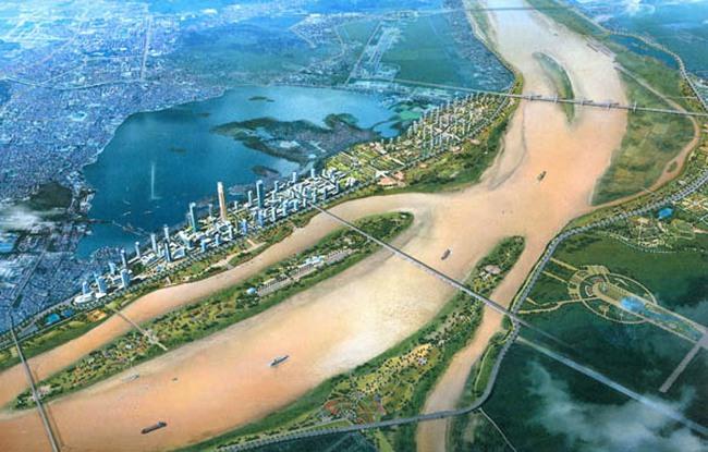 Hàng loạt ông lớn BĐS tài trợ kinh phí lập quy hoạch hai bên bờ sông Hồng