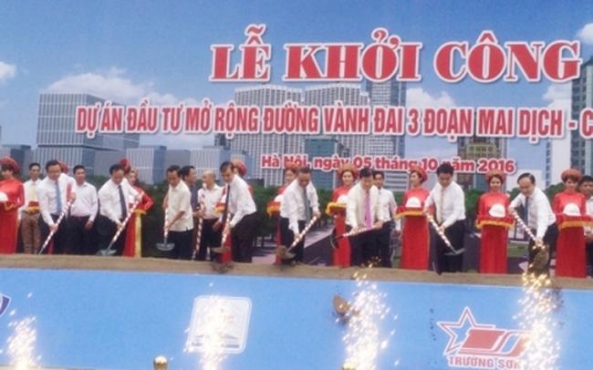 Hơn 3.100 tỷ xây đường Vành đai 3 Mai Dịch - cầu Thăng Long