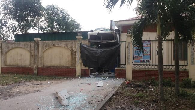 Video: Hiện trường vụ nổ cây ATM Vietinbank ở Nghệ An
