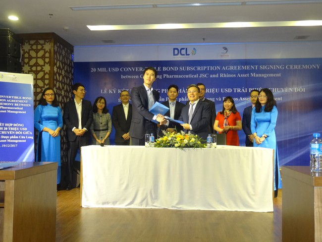 Dược phẩm Cửu Long hoàn tất việc ký kết hợp đồng phát hành trái phiếu chuyển đổi, trị giá 20 triệu USD