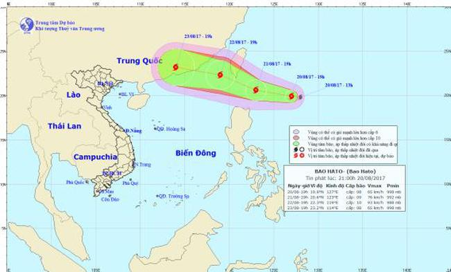Xuất hiện cơn bão gần Biển Đông