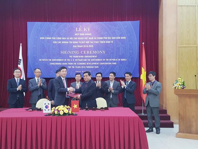 Việt Nam nhận 1,5 tỷ USD vốn ODA từ Hàn Quốc giai đoạn 2016-2020