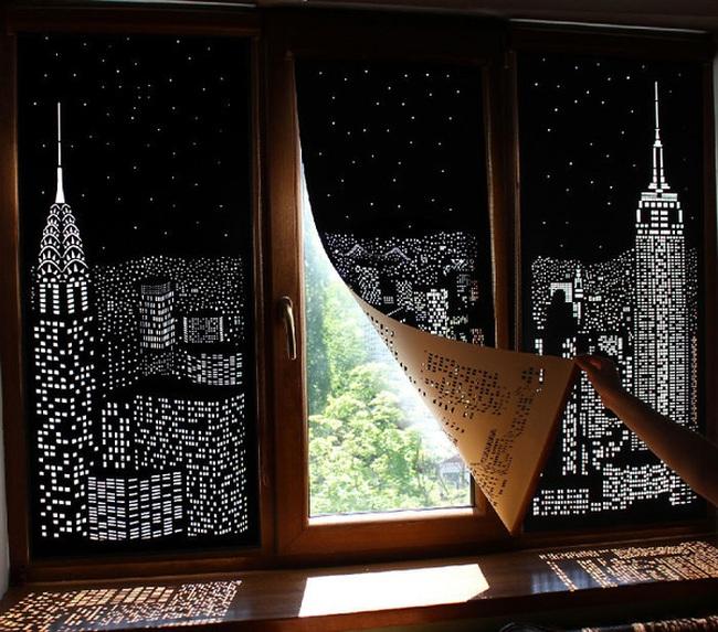 Loại rèm cửa này sẽ khiến bạn có cảm giác mình đang ở trong một căn hộ sang trọng trên đỉnh những tòa nhà chọc trời