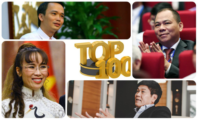 Top100 người giàu nhất sàn chứng khoán Việt Nam năm 2017