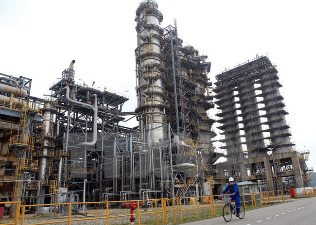 Nhà máy Lọc dầu Dung quất tạm ngừng hoạt động để bảo dưỡng