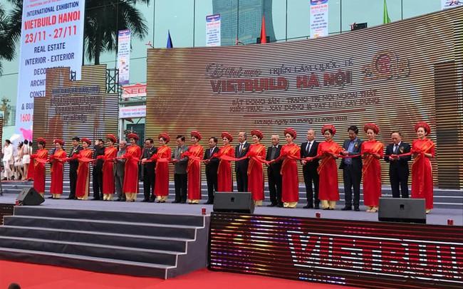 Khai mạc Vietbuild 2018 lần 3 tại TP.Hà Nội: 450 doanh nghiệp với 1.600 gian hàng tham gia