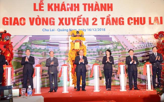 Quảng Nam công bố quyết định điều chỉnh quy hoach Khu kinh tế mở Chu Lai và khánh thành nút giao vòng xuyến 2 tầng 600 tỷ đồng
