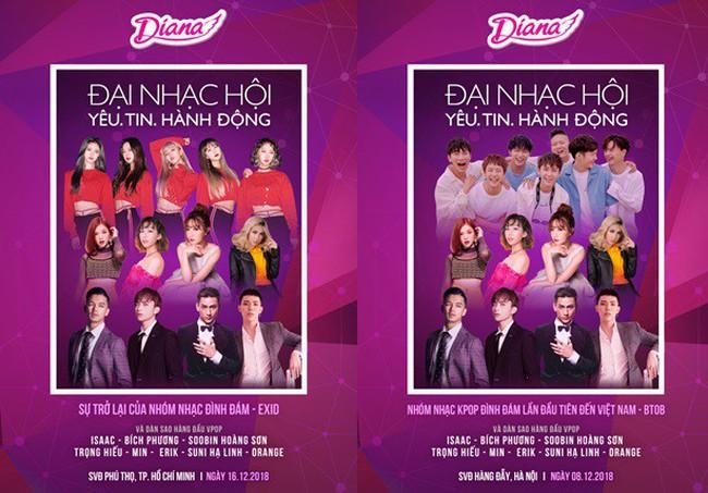 Mang nhóm nhạc Hàn Quốc về biểu diễn tại Việt Nam, có ai chịu chi như Diana?