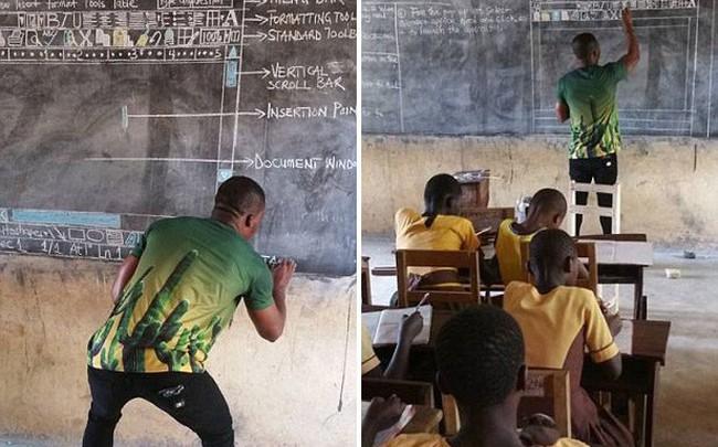 Thầy giáo dạy tin học bằng… bảng đen khiến Microsoft động lòng