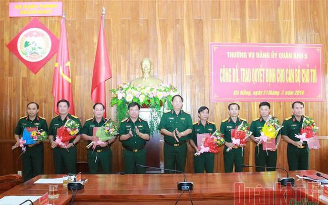 Bộ Quốc phòng, Quân khu 5 bổ nhiệm nhân sự mới