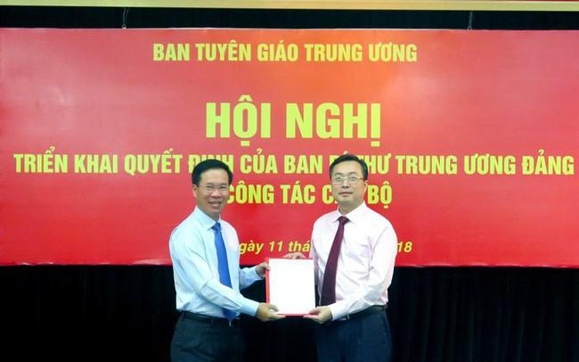 Ông Bùi Trường Giang được bổ nhiệm làm Phó Trưởng ban Tuyên giáo Trung ương