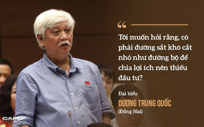 """Bộ trưởng Nguyễn Văn Thể đã trả lời câu hỏi """"lịch sử"""" về đường sắt của đại biểu Dương Trung Quốc như thế nào?"""