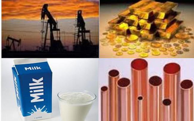 Thị trường hàng hóa ngày 6/6: Giá dầu, vàng, chì và quặng sắt tăng; cao su và sữa giảm mạnh
