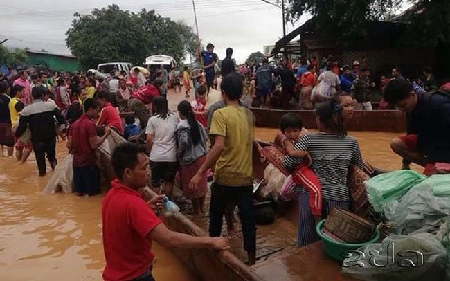 Vỡ đập thủy điện ở Lào: Quân đội Việt Nam hỗ trợ khắc phục