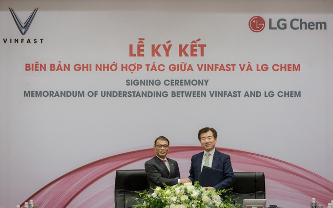 VinFast hợp tác với LG Chem sản xuất pin cho xe điện, điện thoại
