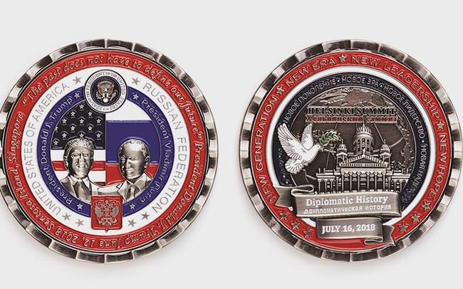 Chi chít lỗi sai ngớ ngẩn trên đồng tiền Nhà Trắng phát hành kỷ niệm hội nghị thượng đỉnh Mỹ-Nga
