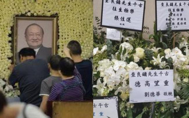 Tang lễ nhà văn Kim Dung: Lưu Đức Hoa, Huỳnh Hiểu Minh cùng dàn nghệ sĩ gửi hoa trắng rợp trời