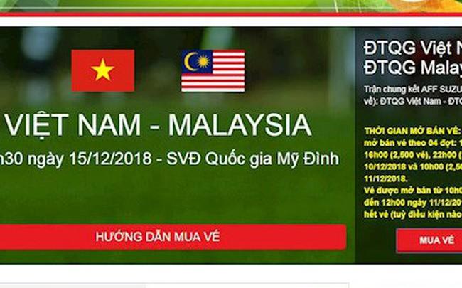 Mở bán vé trận chung kết lượt về AFF Cup 2018 đợt cuối cùng: Lại điệp khúc nghẽn mạng ngay từ giây đầu tiên!