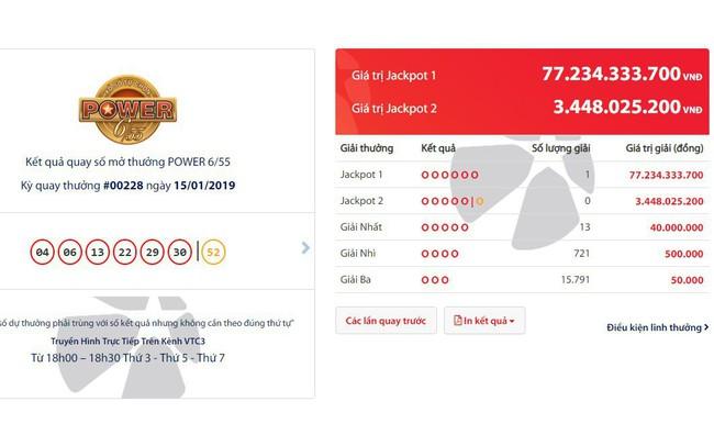 Chủ nhân vé trúng 77 tỷ giải Jackpot 1 được phát hành tại Bình Dương