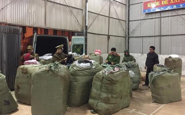 Liên tiếp bắt giữ lượng lớn hàng hóa nhập lậu từ Trung Quốc