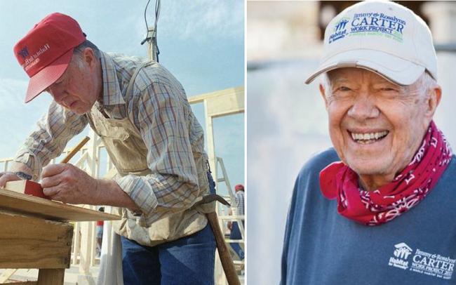 Học lỏm bí quyết sống thọ như cựu Tổng thống Mỹ Jimmy Carter: Đánh bại bệnh ung thư, vẫn khỏe mạnh đi xây nhà ở tuổi 95