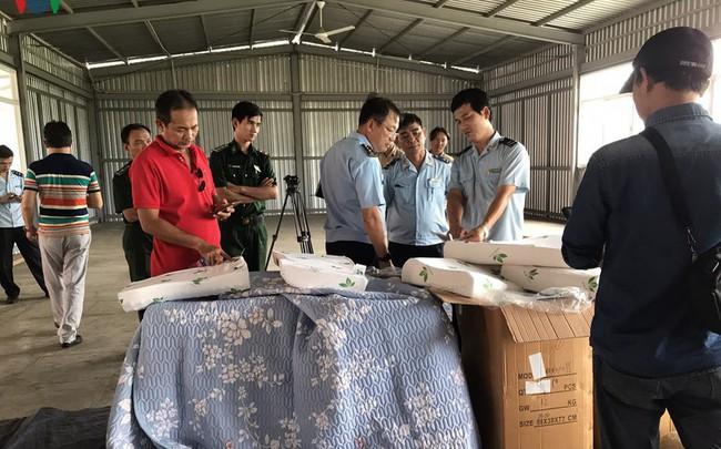 Phát hiện container chứa hơn 7 tấn hàng hóa Trung Quốc giả mạo xuất xứ Việt Nam