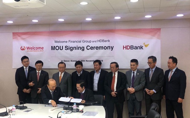 HDBank ký thỏa thuận ghi nhớ với tập đoàn tài chính WFG của Hàn Quốc