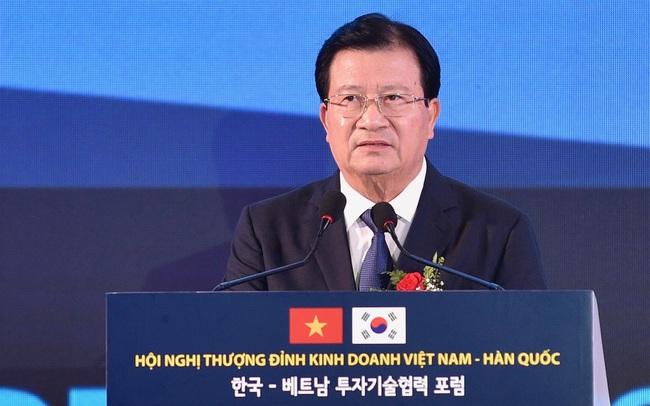 Phó Thủ tướng: Việt Nam muốn doanh nghiệp Hàn Quốc tham gia cổ phần hoá doanh nghiệp nhà nước