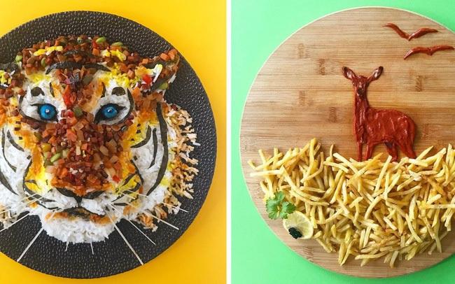 """Cô gái tạo ra cả một """"sở thú"""" bằng đồ ăn, ai nhìn vào cũng thòm thèm nhưng không nỡ động tay vì quá đẹp"""