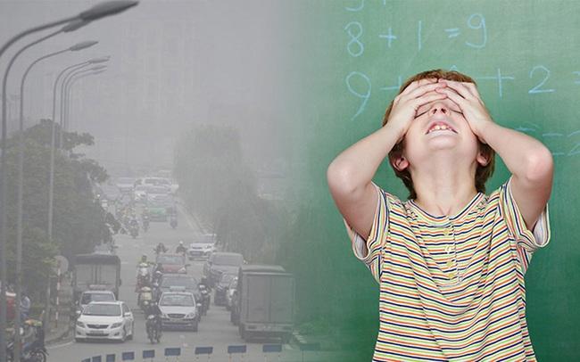 Rùng mình trước tác hại đáng sợ từ ô nhiễm không khí: Bụi mịn PM 2.5 có thể làm giảm chỉ số thông minh IQ ở trẻ em!