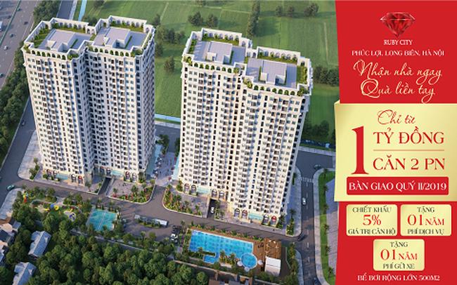 Chỉ từ 1 tỷ đồng sở hữu căn hộ 2 phòng ngủ trung tâm Long Biên