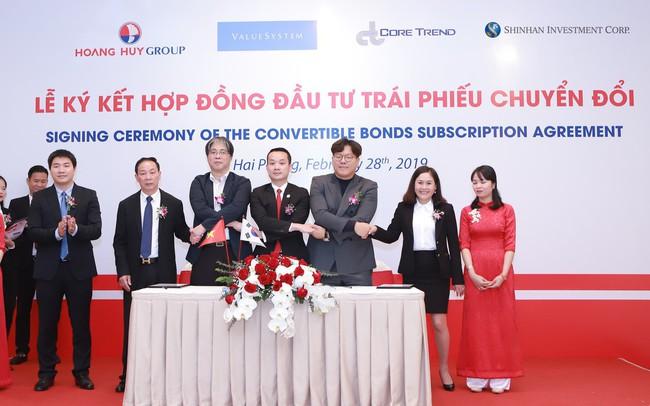 Tài chính Hoàng Huy (TCH) phát hành 50 triệu USD trái phiếu chuyển đổi cho Shinhan Investment, CoreTrend Investment và ValueSystem