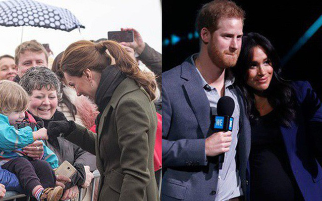 Khi Meghan lựa chọn xuất hiện như một ngôi sao thì Công nương Kate lại từ chối cầm ô, dầm mưa lạnh trong sự kiện mới nhất