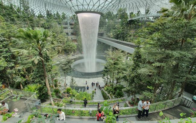 Trải nghiệm ở sân bay tốt nhất thế giới, nơi có cả cánh rừng và thác nước trong khuôn viên