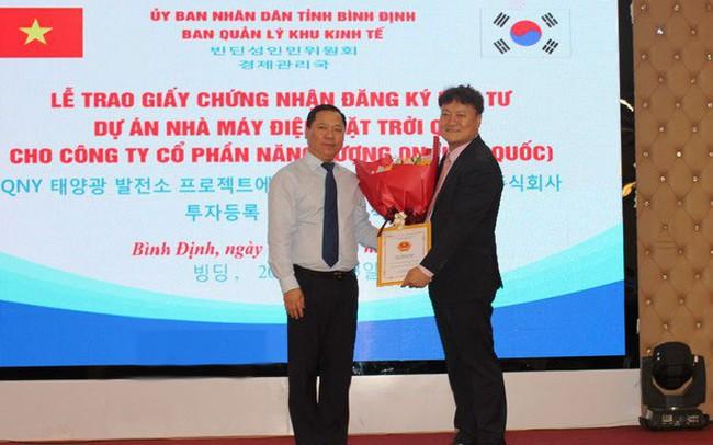 Doanh nghiệp Hàn Quốc đầu tư 1.600 tỷ đồng xây dựng nhà máy điện mặt trời ở Bình Định
