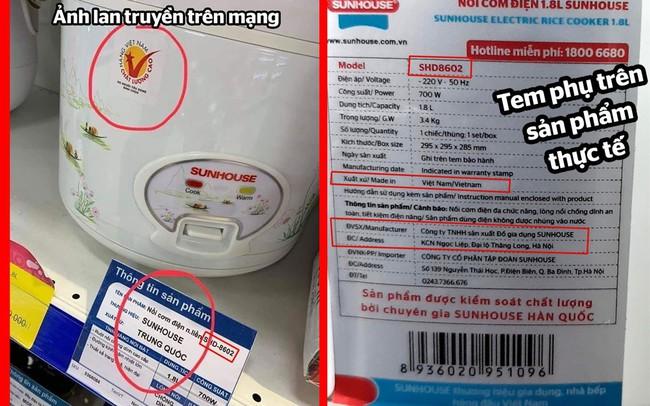 Vướng nghi vấn bán hàng Trung Quốc đội lốt Việt, SunHouse nói gì?