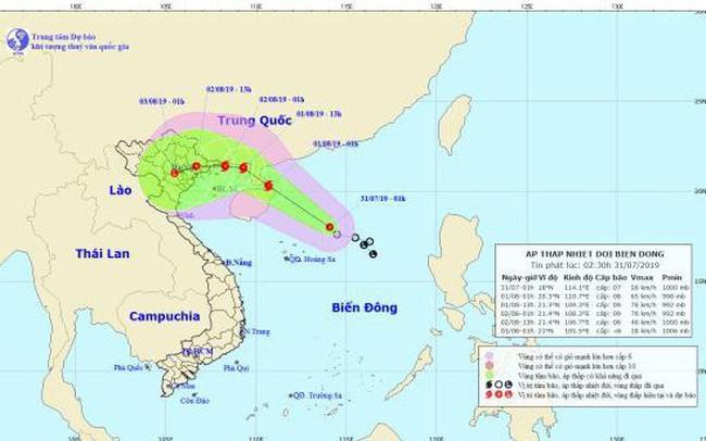 Áp thấp nhiệt đới trên biển Đông mạnh lên thành bão, giật cấp 11